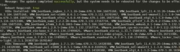 Update VMware ESXi 6.7.0 build-15160138 to 6.7 build-17499825
