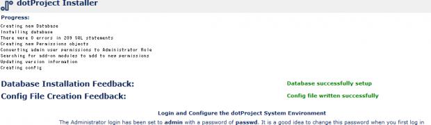 install dotproject