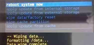 ASUS ZenFone 5(A500KL)のfactory resetを実行
