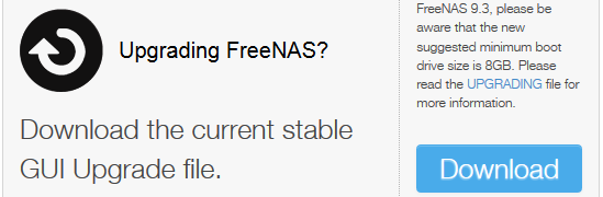 Upgrade FreeNAS 9.3