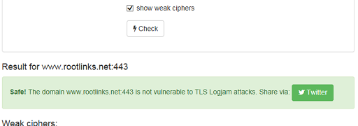 TLSの脆弱性 LogjamとFREAKの確認