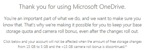 Microsoft OneDriveの無料15GBの継続利用手続き