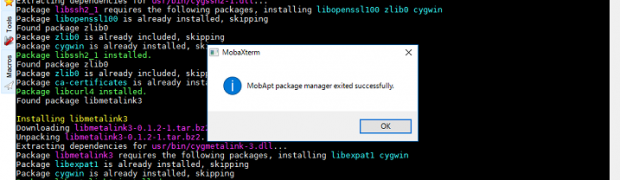 MobaXtermのCygwinとPackages管理
