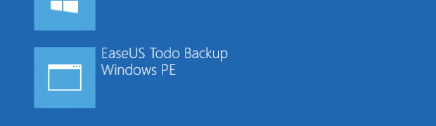 EaseUS Todo Backup WorkstationのPreOS有効化