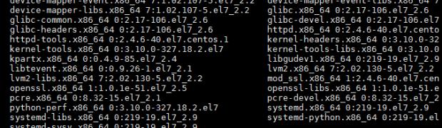 CentOS 7.2のyum updateを実行(2016年5月15日)