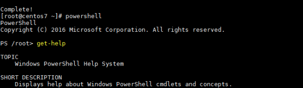 Install Microsoft PowerShell on CentOS 7 with yum
