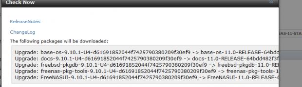 Update FreeNAS 9.10.1 U4 to FreeNAS 11.0