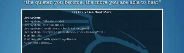 Kali Linux Bootable USB Driveの作成