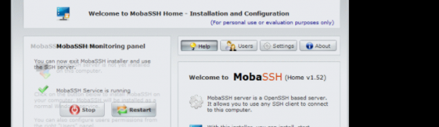 Install sshd on Windows Server 2012 R2(MobaSSH)