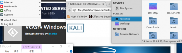 Windows 10 WSLのKali LinuxにVoodoo-Kaliをインストール