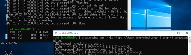 Windows 10 WSLのKali Linuxにproxychainsをインストール