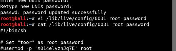 Kali Linux Live USB persistenceのrootパスワード変更と自動ログインの停止