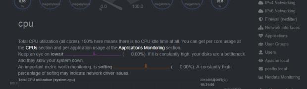 NetdataでCentOS 7のApache パフォーマンスモニタ