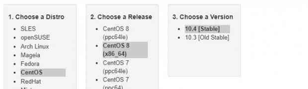 Install MariaDB 10.4 on CentOS 8