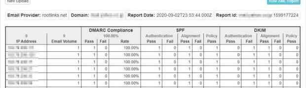 OpenDMARCのレポート機能の確認